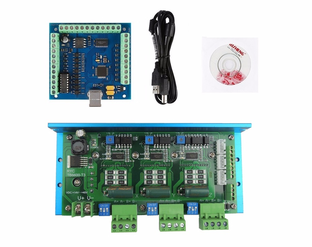 CNC TB6600 3 Axis 4.5A Stepper Motor Driver Board+MACH3 USB 4 Axis 100KHz Smooth Stepper Motion Controller board free shipping high quality 4 axis tb6560 cnc stepper motor driver controller board 12 36v 1 5 3a mach3 cnc 12