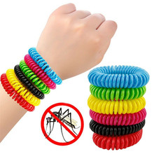 News 10 Anti Mosquito Insect Repellent Bracelet Natural Waterproof Spiral Wrist Bands Random color