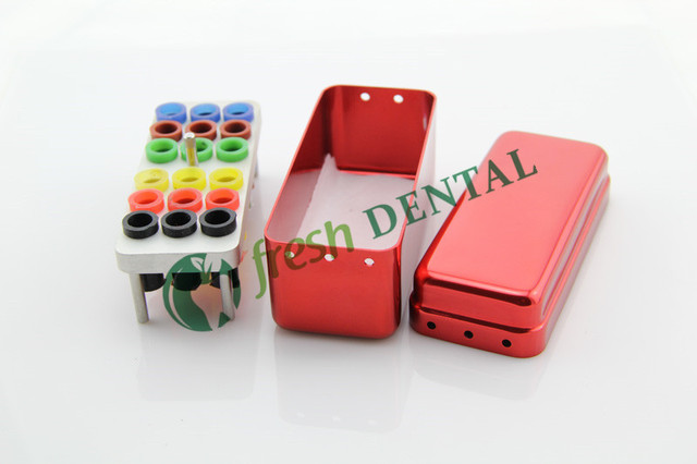 Dental 18 hole Bur sterilization box Bur Holder For Root canal file bur gutta percha root box disinfection box sterilization box