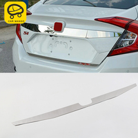 CARMANGO For honda civic 10th 2016 2018 Auto Car styling Trunk trim tailgate trim cover sticker Exterior Accessories