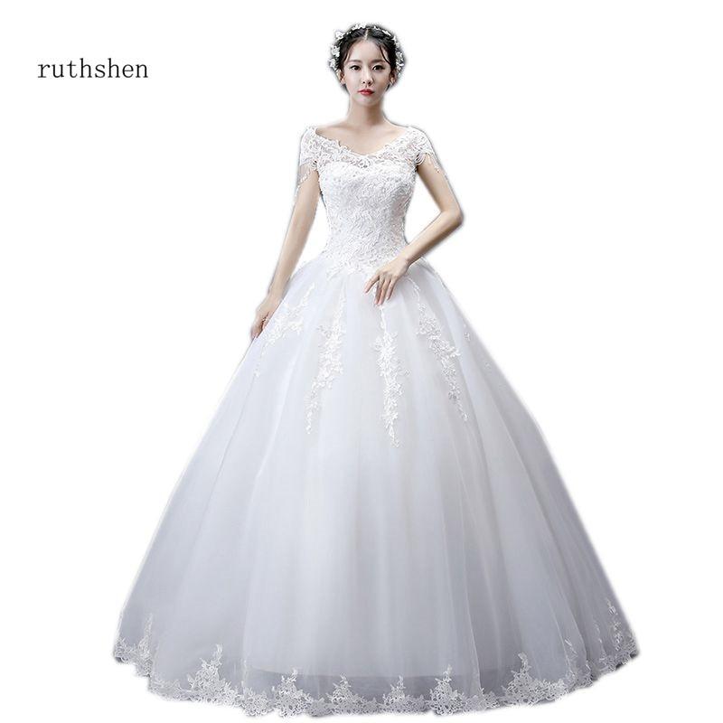 Cheap Wedding Gowns Under 100 Dollars: Ruthshen Cheap Wedding Dress V Neck Appliques Beading