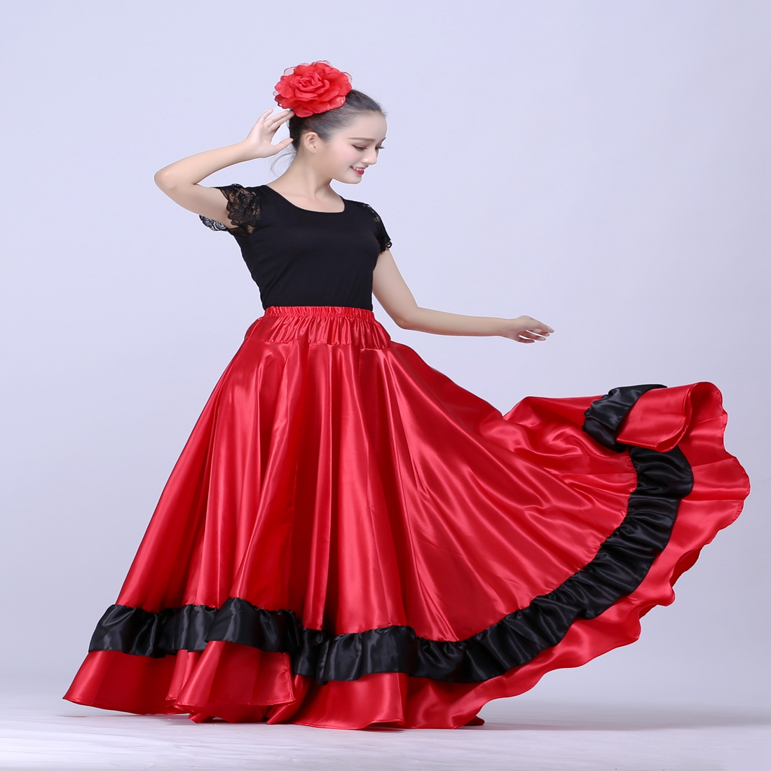 Spanish Flamenco Skirt  Belly Dance Skirt  Spanish Clothing  Spanish Dance Costumes Brazil Dance Costume Gypsy Ro Flamenco Dress