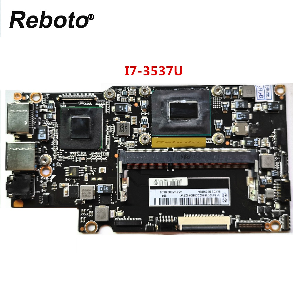 Reboto Original For Lenovo Yoga 13 Laptop Motherboard With i7 3537u 2GHz CPU Intel QS77 FRU