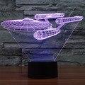 Novelty 3D Star Trek Decor Bulbing Night Light Lamp Gadget LED Lighting Star Wars Home Bedside Nightlight for Child Gift