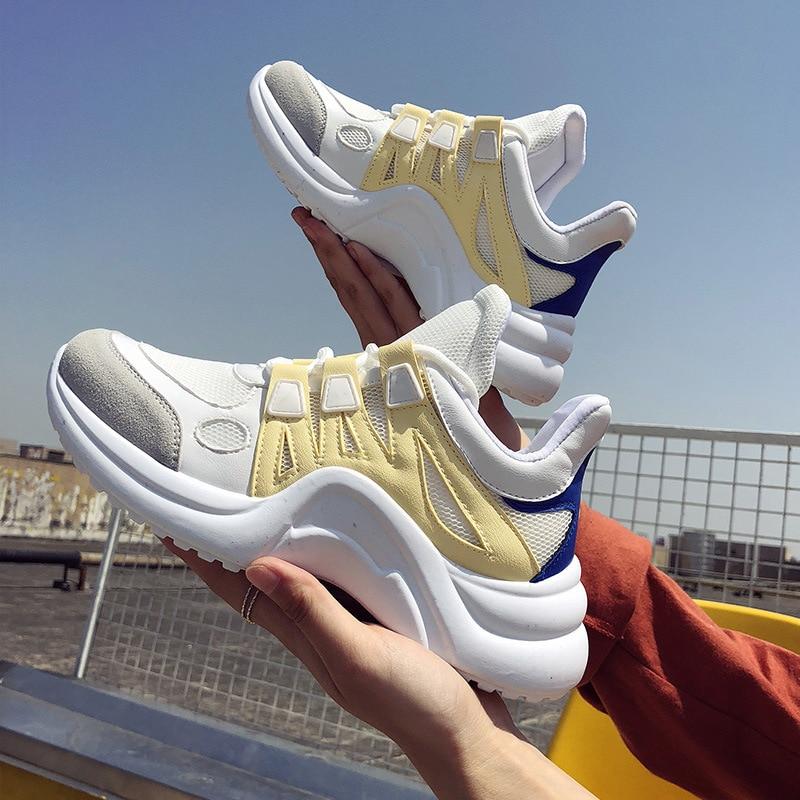 Casual Ocio De 3 4 Zapatillas 2 Transpirable Fujin Femenina Malla Zapatos Mujeres 2018 Calzado 1 Marca 5 6 Suave Encaje Moda Vulcanizar w0qgCSg