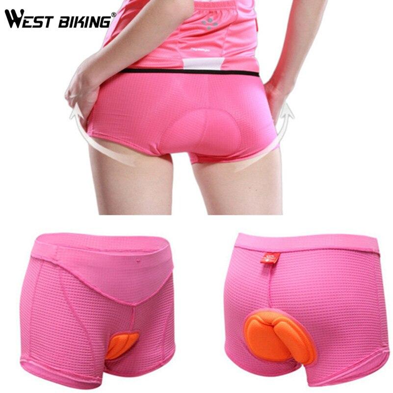Women Bike Underwear Gel 3D Padded Pants Bicycle Briefs Cycling Underwear Shorts