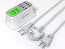 QM YC-CDA19 USB adaptateur chargeur USB hub CE/FCC/ROSH/3C certification 8 USB Ports de L'UE/US/UK plug prise intelligente livraison gratuite