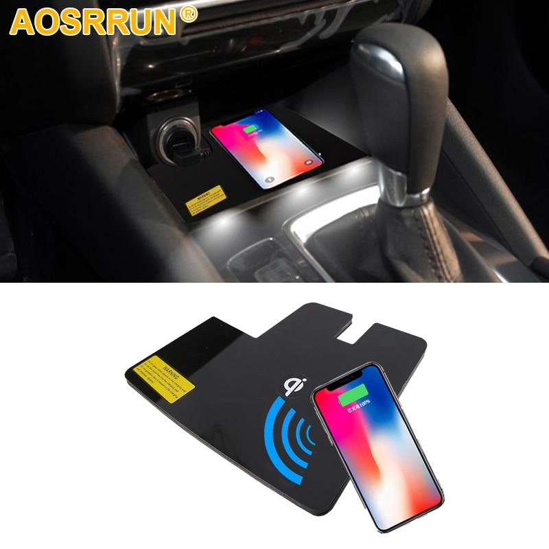 Especial a bordo do telefone qi almofada de carregamento sem fio painel acessórios do carro para mazda 6 atenza 2016 2017 2018