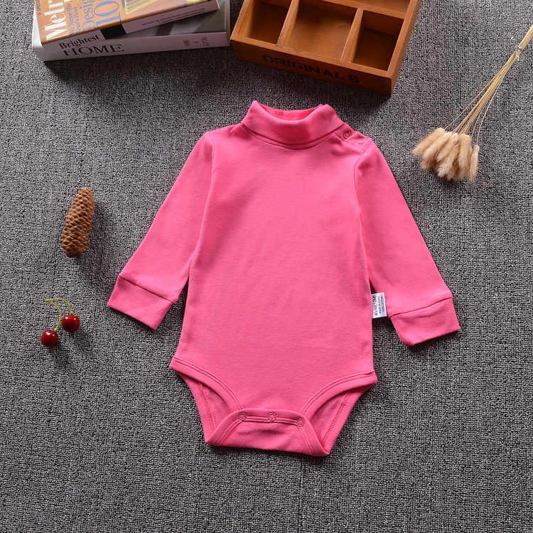 Боди из чистого хлопка с высоким воротником для маленьких мальчиков и девочек от 6 месяцев до 24 месяцев, Bebe, зимнее теплое боди с длинными рукавами