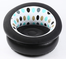 Inflatable chair cute New exotic Single cylinder flocking sofa relax chair(pump is not included)