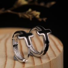 Rounded Cross Earrings