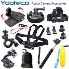 For Gopro Accessories Set 360 Mini Tripod Monopod Chest Belt Head Mount Strap For Go pro hero 5 4 tripode movil Xiaomi Yi Camera
