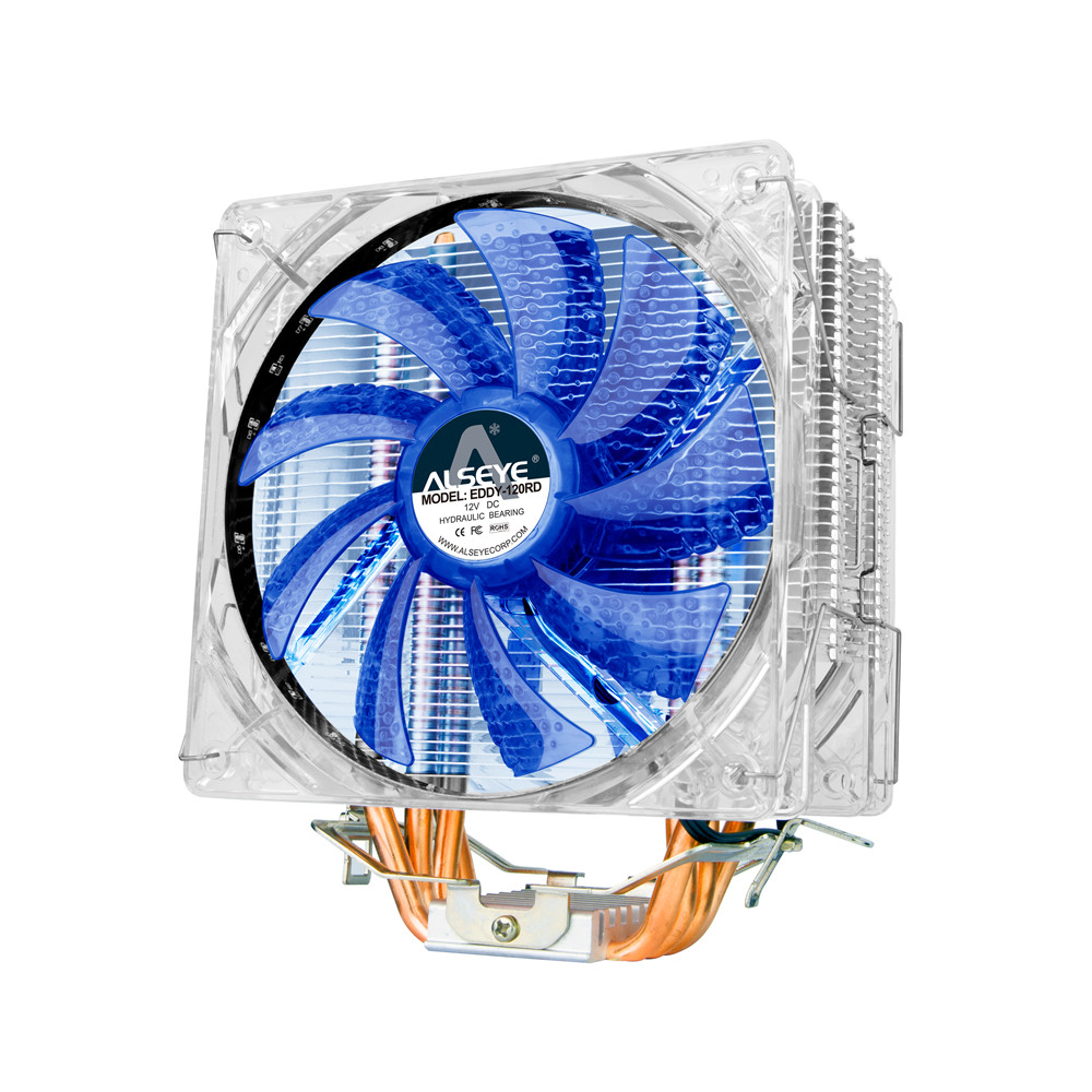 Alseye Eddy 120bl Cpu Cooler Tdp 250w Dual 4pin Led 120mm Fan Casing 12cm Radiator For Lga