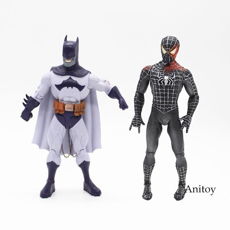 DC COMICS Супер герои Бэтмен Человек-Паук ПВХ Фигурку Коллекционная Модель Игрушки 18 см KT3871