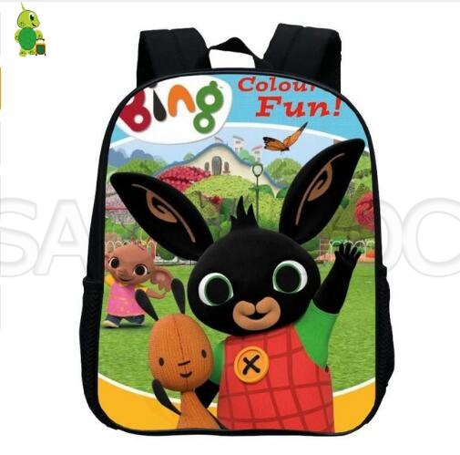 Funny Bing Bunny Print Backpack Cartoon Toddler Backpack Children School Bags Baby Boys Girls Primary Bags Kindergarten Backpack