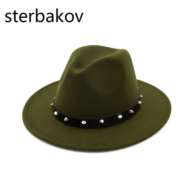 Special Men Felt top Hat Hats Fedora with Belt Women Vintage Trilby Caps  Wool Fedora Jazz Chapeau Hat Femme Feutre Hot sombrero df533411b1f