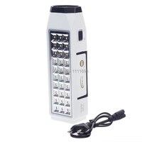 Led Rechargeable Flashlight Emergency Light Lamp Lantern LED White Light 2 Illumination Modes Rechargeable Emergency Lamp