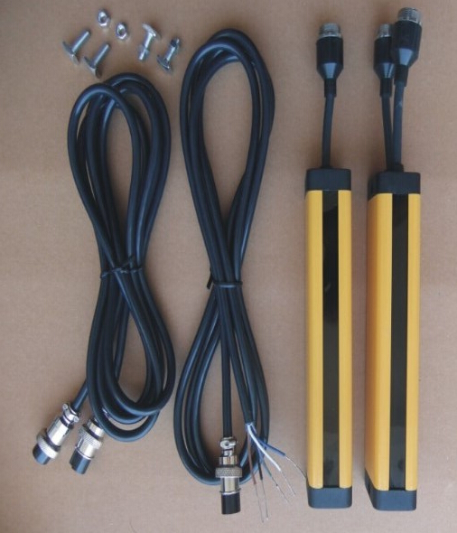 transistor NPN normally open 6 points 40MM light curtain safety grating hydraulic protection punch sensor photoelectric 4 beams 40mm relay out put manufacturers safety light curtain safety grating optical protection punch sensor