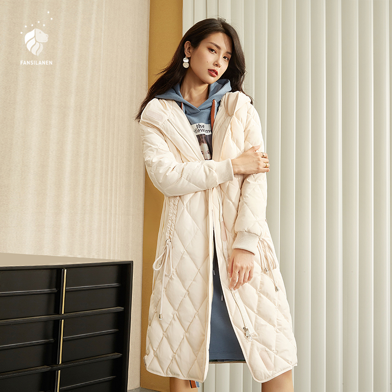 FANSILANEN 2019 Fashion New Arrival Autumn/Winter Womens   Coat     Down   Solid White Jackets Brands Plus Loose Big Size Z86218