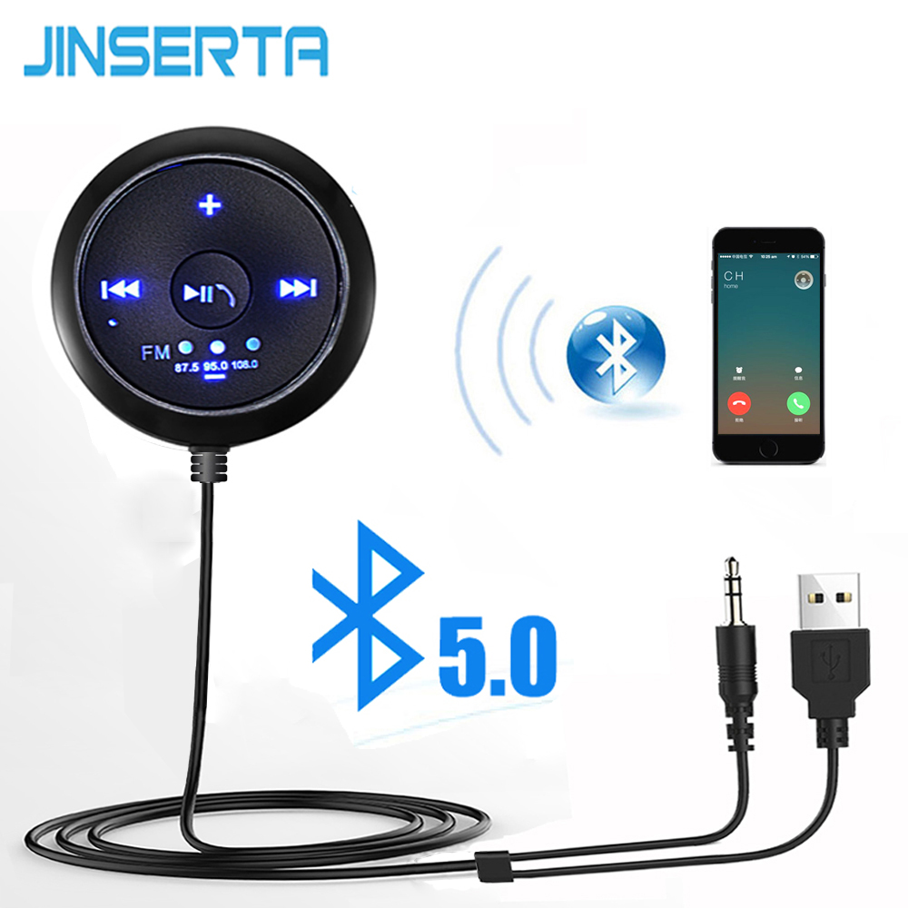 JINSERTA Mp3-Player Audio-Receiver Music-Adapter Handsfree Aux Bluetooth Car-Speaker-Streaming-Kit