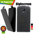 New items 100% Special Case PU Leather Flip Up and Down Case + Free Gift For Highscreen Power Four