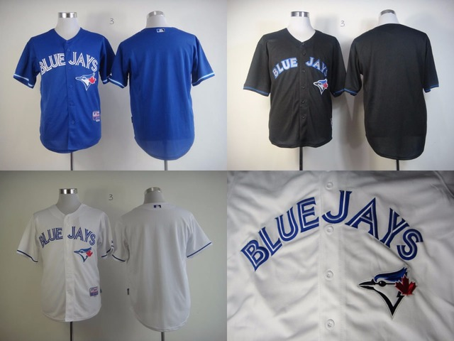 f5ce9fef0 Blank Blue Jays Kids Baseball Jersey Youth No Name No Number Blue White  Black Cool Base Childs Sport Shirst Boys Baseball