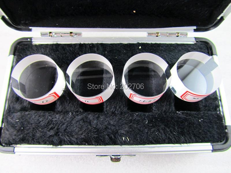 0-25 мм параллельные плоские хрустальные оптические параллели, 4 шт./компл