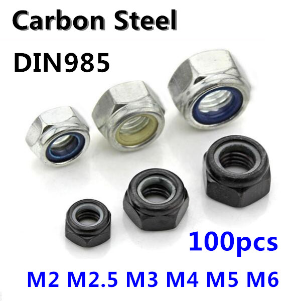M8 Pack of 10 Nylon 8mm Flanged Hex Nut Natural