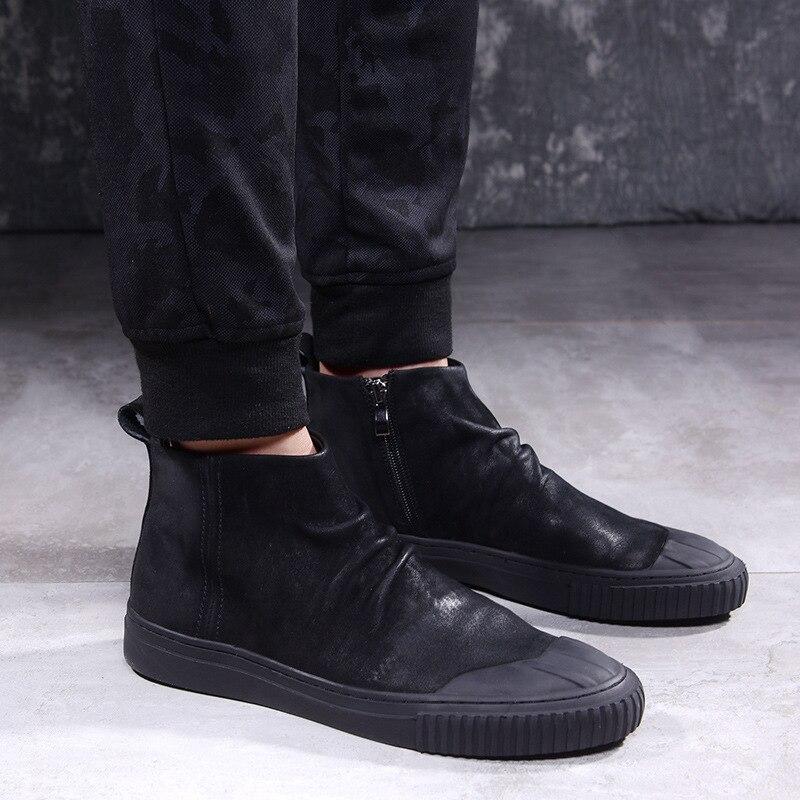 2018 D'hiver Chelsea bottes hommes bottes de pluie faible bot chaud bottes mâle faible bot d'eau chaussures hommes slip bot galoches bottes de pêche bottes en caoutchouc