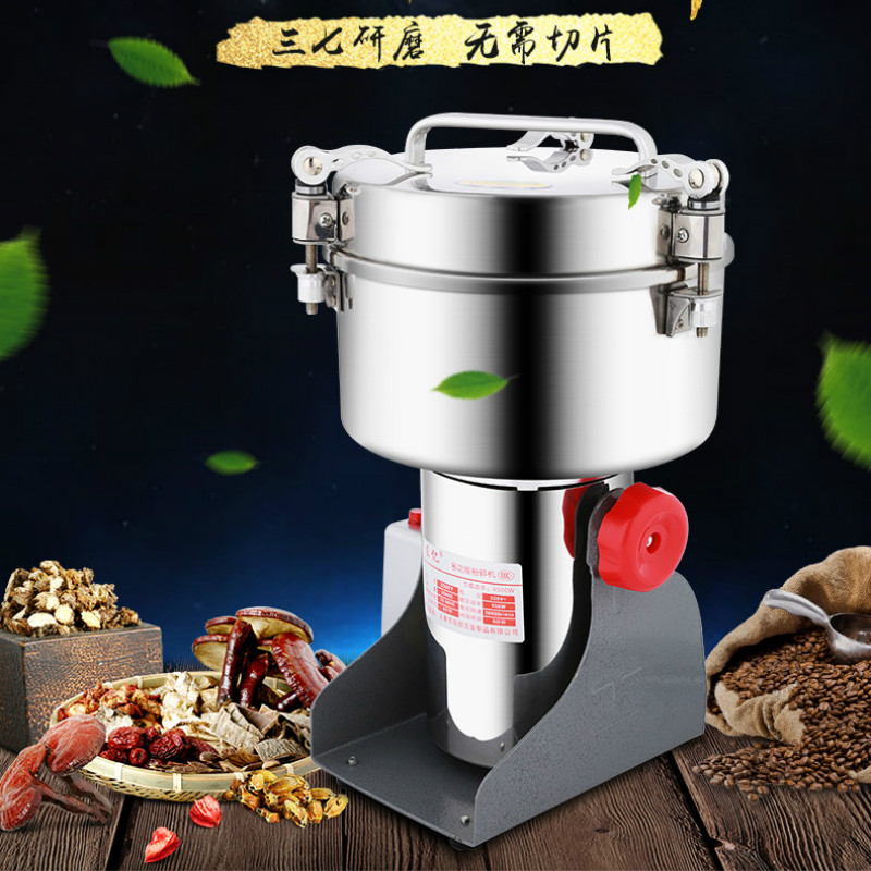 Electric Stainless Steel Dry Grinders for 2000G  3600W Home Mini Pulverizer for Cereals Beans Dry Grinding Millers Blenders|Blenders| |  - title=