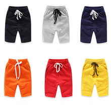 ФОТО hot new 2017 boys summer pants children casual shorts baby boys panties solid color 1-10 years kids cotton clothes infant cloth