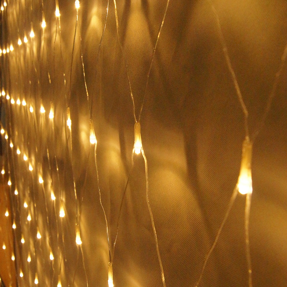 Net Mesh Waterproof Fairy String Lamp 6m 4m 672led For Christmas Road Planting Decoration
