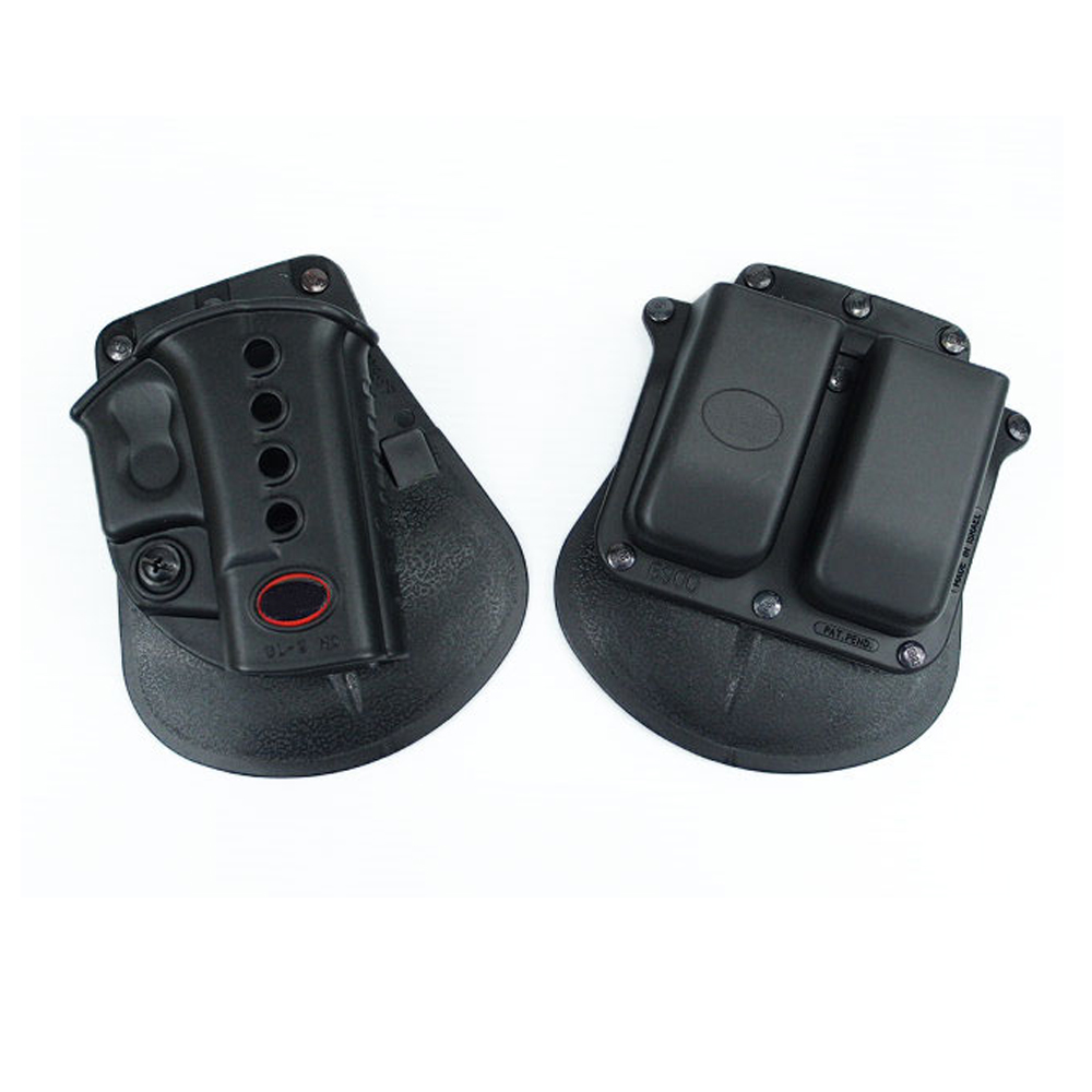Venta caliente GLOCK 17/19 RH pistola y revista Paddle Holster pistola militar G17