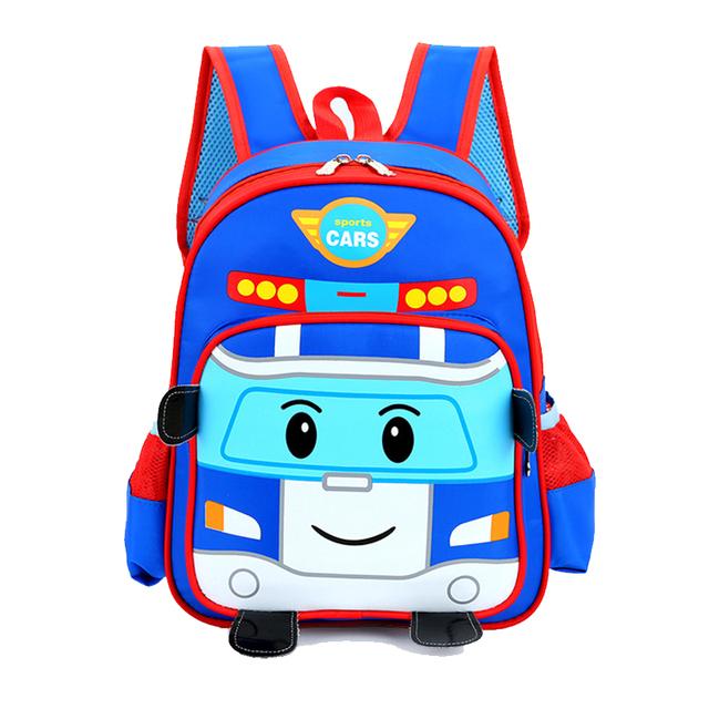 Los niños bolsas de bebé niños mochilas ortopédicos coches de la historieta niños niñas schoolbag niños mochila mochila para niños regalos de navidad