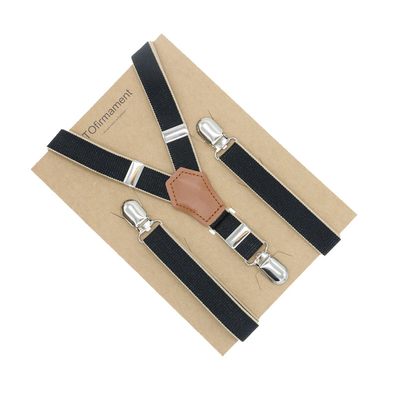 2cm Real leather suspender mens fashion Braces Strong 3 Clips Trousers Suspensorio Elastic Gentleman Holder
