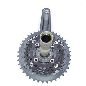 Image 4 - Shimano Alivio M4050 T4060 27S bike guarnitura 22 30 40T 22 32 44T 170 millimetri 3*9 velocità di 40t 44t hollow guarnitura bicicletta ruota di catena BB52