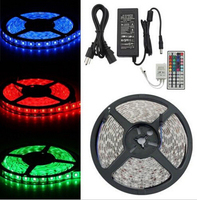 5m 5050 LED RGB Strip Light 30led/m Waterproof IP65 with 44keys IR Remote &12V 5A Power Supply US/UK/AU/ER adapter