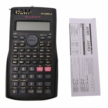 Student Multi-Function 2-Line Display 12 Digit Electronic Scientific Calculator все цены