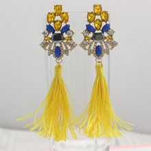 EManco delle donne lunghi orecchini hanging gocce nappe orecchino per le donne etnico dichiarazione ciondola l' orecchino con pi