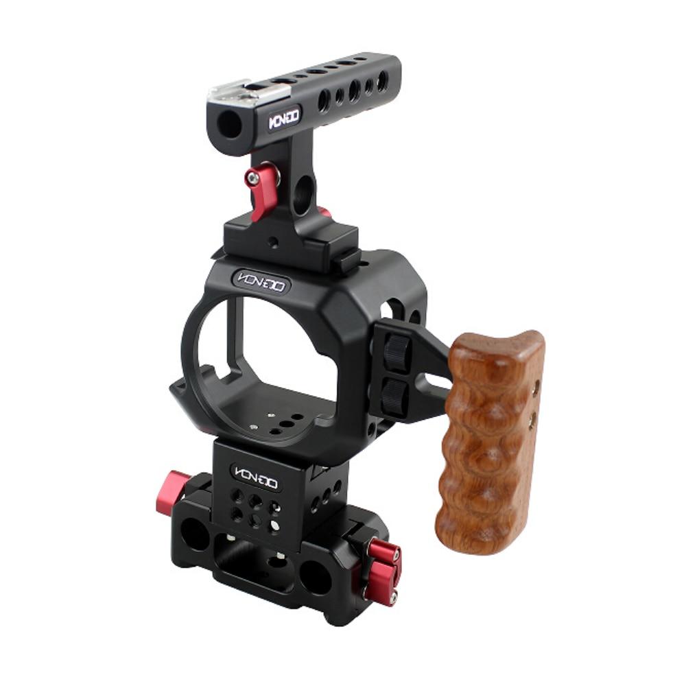 Nouveau BMMCC plate-forme cage plaque de base manche en bois pour Blackmagic Design Micro Studio cinéma caméra 4 K