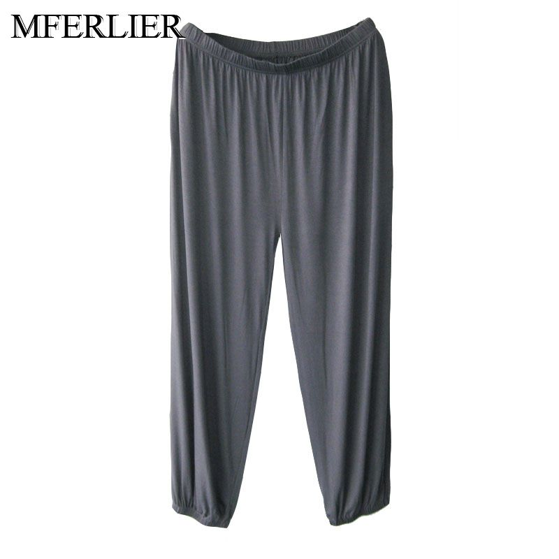 Spring Summer Men Loose Pants Plus Size 4XL 5XL 6XL 7XL Waist 145cm Large Size Pants Men 4 Colors