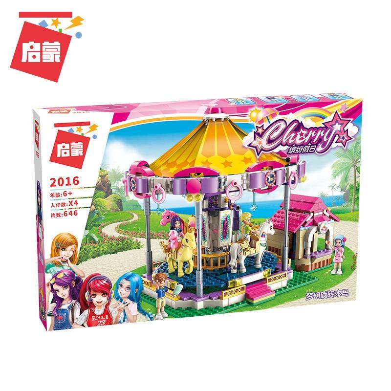 ENLIGHTEN-City-Girls-Princess-Fantasy-Carousel-Building-Blocks-Sets-Bricks-Model-Kids-Classic-Compatible-Legoings-Friends (5)