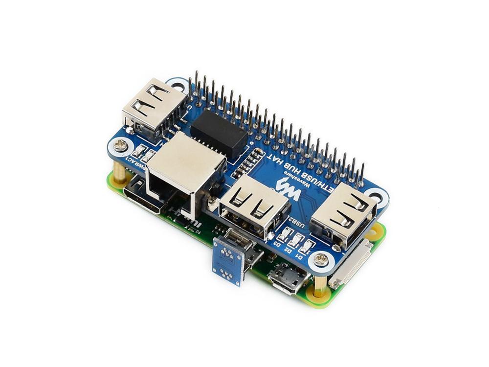 Waveshare Ethernet / USB HUB HAT For Raspberry Pi 1x RJ45 Ethernet Port 3x USB Ports 5V