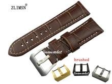 22 мм НОВЫЙ Темно-Коричневый Толстый Натуральная Кожа Часы Ремешок Ремешок Браслет