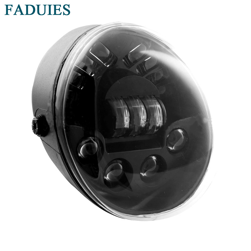 FADUIES 7 Inch led headlight hi/low beam motorcycle led projector headlight with DRL & TURNING for harley VRSCA V-Rod VRod faduies 1 pair 4 5 inch harley motorcycle led headlight high low beam with drl angle eyes for harley fat bob fxdf led headlamp