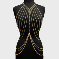Full Body Chains Women Accessories Fashion Body Chain Necklaces 2016 Alloy Sexy Statement Body Jewelry