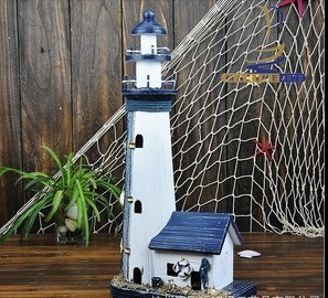 Handmade A Large Marine Beacon House Mediterranean Style Lighthouse High 52cm For Home Decor Wholesale