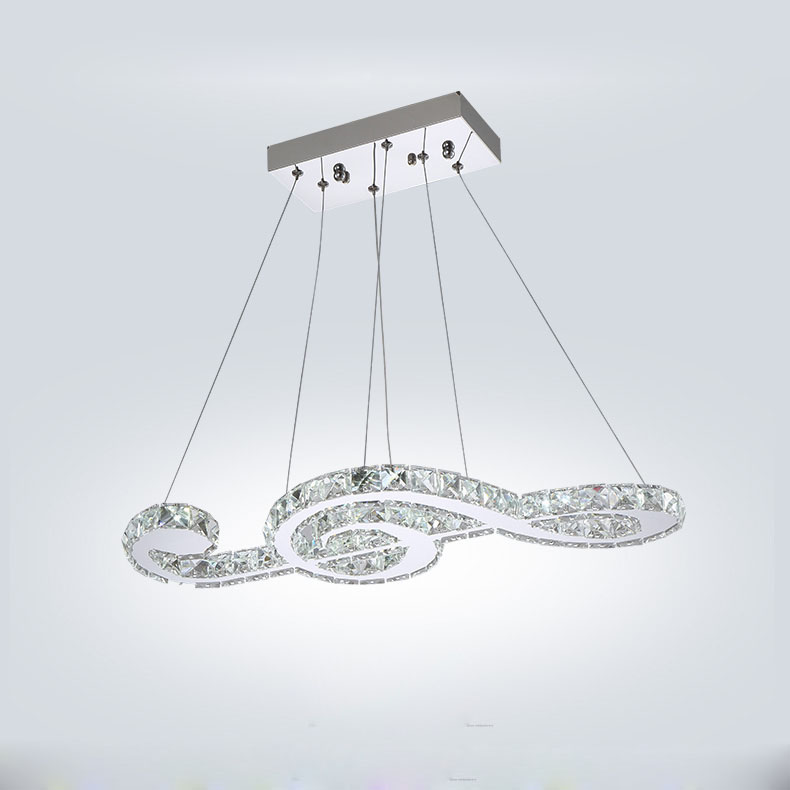 Modern crystal light chandelier luxury dining room hanging modern crystal light chandelier luxury dining room hanging lighting fixture music note design led lustres de cristal lamp in chandeliers from lights mozeypictures Image collections