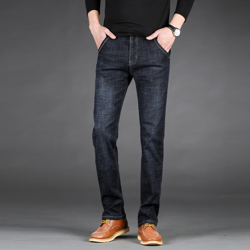 2019 New Men's Thin Light Jeans   Brand Jeans Fashion Men Casual Slim Straight High Stretch Jean Men Big Size 28-40 42 44