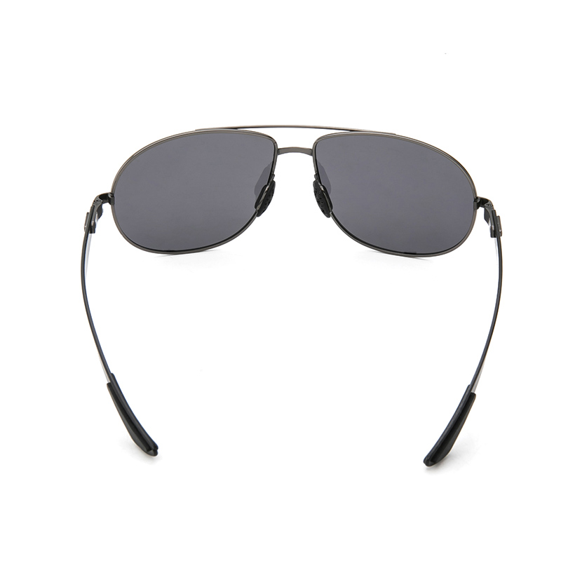 Gun gray Frame Oversized Spring Leg Carbon fiber Men Sunglasses TAC Polarized Lens Design Pilot Male Sun Glasses Driving 8112Y in Men 39 s Sunglasses from Apparel Accessories